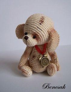 ЩЕНОЧЕК в стиле Benesak (он-лайн вязание). | Вязалочки-подарочки