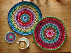Beautiful crochet mandalas by Lucy of Attic24