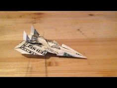 Origami - How to Make an EPIC Fighter Jet out of Money - YouTube