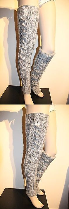 Leg Warmers 163587: Spring Sale Hand Knit Leg Warmers Extra Long Pure Wool By Irinakdesigns -> BUY IT NOW ONLY: $49.99 on eBay!