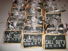 Call Of Duty Ghosts Birthday Theme Sugar Cookies individually wrapped!