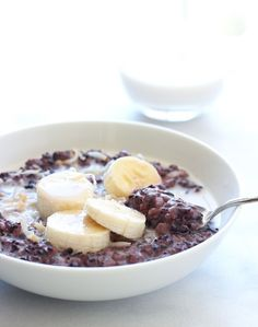 Forbidden Black Rice Breakfast Pudding- high in antioxidants and it tastes amazing! #glutenfree #vegan