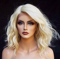 2020 Fashion Blonde Wigs For White Women 8.3 Hair Colour Dark Brunette - Wcwigs Blonde Hair Kylie, Dark Brunette Hair, Blonde Wig, Blonde Bobs, Blonde Lace Front Wigs, Bob Lace Front Wigs, Synthetic Lace Front Wigs, Synthetic Hair, Front Lace