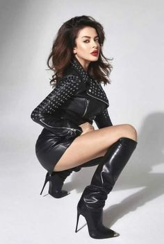 Thigh High Boots Heels, Stiletto Boots, Sexy Legs And Heels, Sexy Boots, Leather Fashion, Fashion Boots, Leder Outfits, Look Fashion, Sexy Outfits