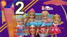 PART 2! Pool Party   Elsa and Anna toddlers ! Water Slide ! Rapunzel, Ariel