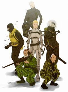 Metal Gear Solid Cobra Unit--- I freakin hate The Fear! Snake Metal Gear, Metal Gear Solid Series, Metal Gear Survive, Mgs V, Heroes United, Metal Gear Rising, Kojima Productions, Gear Art, Custom Gundam