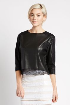 Lalita Leather and Lace Top   Earth & Beauty