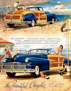 1946 Chrysler Ad .     2,7° https://de.pinterest.com/yellowsprings79/golden-age-of-auto-ads/