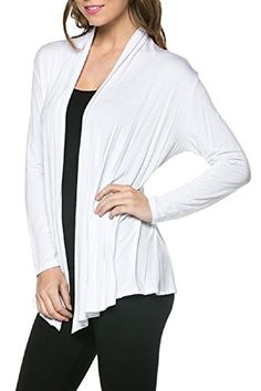 Viosi(TM) Women's Soft Comfortable Open Front Cardigan - Made in USA (Small, White) Viosi http://www.amazon.com/dp/B00M24XET6/ref=cm_sw_r_pi_dp_8uf-vb0ZWTEKH