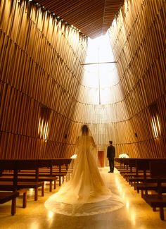 "The perfect place to say ""I do"". The distinctive Grand Chapel at Grand Hyatt Tokyo features cedar wood walls, abundant natural daylight and a private garden."