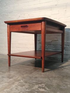 LANE Mid-Century Danish Modern End Table / Nightstand  -  Nice Mad Men / Eames Era Decor