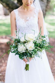 Photography : Maria Lamb   Floral Design : Seed Floral   Wedding Gown : Sarah Seven   Photography : Maria Lamb Read More on SMP: http://www.stylemepretty.com/california-weddings/malibu/2015/01/30/music-festival-inspired-malibu-wedding/