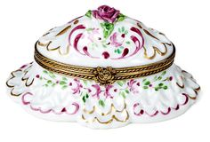 "3"" Rocaille Pink Limoges Box on OneKingsLane.com"