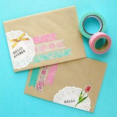 Aqua and Yellow trio washi tape flowers polka dot by dkshopgirl!!!!!!!!!!!!!!!! Lovely! <3