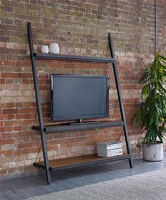 Baxter Wide Metal TV Shelf
