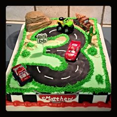 A Cars birthday sheet cake :)