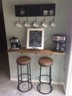 Floating breakfast bar wall mounted breakfast bar for Kitchen corner bar ideas