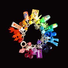 Kitsch Rainbow Loaded Gumball Charm Bracelet by KooKeeJewellery, $20.99