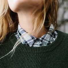 Dress looks up with sweaters over shirts, can reuse shirts from summer for this look