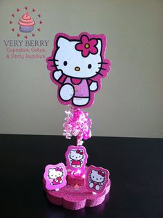Hey, I found this really awesome Etsy listing at https://www.etsy.com/listing/159388079/1-hello-kitty-glitter-centerpiece