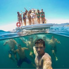 Love this under water/above water shot.