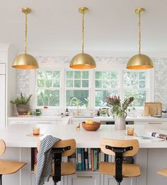 Kitchen island glory #roycependant #draftingchair #schoolhouseelectric / Shop this shot - link in profile