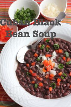 Cuban Black Bean Soup (Frijoles Negros) © Jeanette's Healthy Living