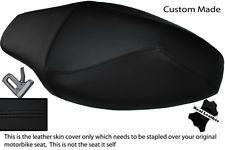 Negro Stitch Custom Fits Yamaha Cs 50 Jog R de doble Cuero Real cubierta de asiento