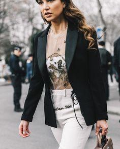 Dior Haute Couture, January 2017 @negin_mirsalehi #pfw #dior #hautecouture #streetstyle