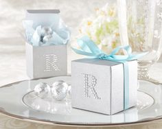$0.55 Jeweled Monogram Silver Favor Kit (Set of 24)