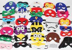 Party Pack 20- Childrens Super Hero Masks, Deluxe felt mask, Captain America…