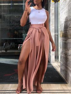 35 Stylish Streetwear Outfits For Women To Look Gorgeously Fashionable - Style O Check Trendy Outfits, Summer Outfits, Cute Outfits, Fashion Outfits, Womens Fashion, Fashion Trends, Fashion Ideas, Vacation Outfits, Black Girl Fashion