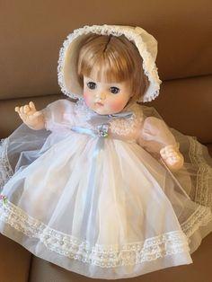 Vintage Madame Alexander Blonde Mommies Pet Baby Doll No.7136 White Dress NWB #MadameAlexander