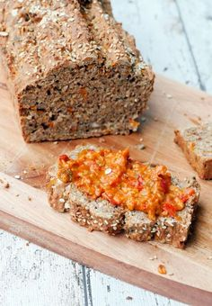 """variety bread from """"Healthy cooking is aus """"Gesund kochen ist Liebe"""" Healthy bread with wholemeal spelled flour, oatmeal and carrots - Breakfast Desayunos, Clean Eating Breakfast, Clean Eating Dinner, Breakfast Recipes, Dinner Recipes, Low Carb Recipes, Bread Recipes, Healthy Recipes, Sandwich Recipes"""