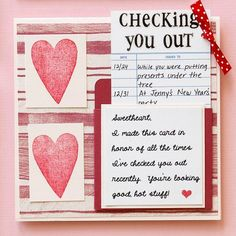 "Best Valentine's Day Card ever! ""Checking you out!"""