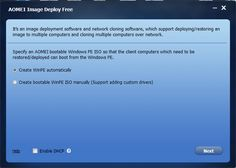 FREE Image #Deployment #Software and #Network #Cloning Software AOMEI Image Deploy Interface http://www.tech-wonders.com/2017/02/review-aomei-image-deploy-free-image-deployment-software.html