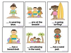 Summer Pronouns: A FREEBIE for speech therapy or a language center in a regular classroom.