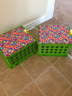 Crate Seat Tutorial ~ Classroom Organization  4th Grade Classroom