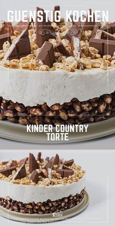 The children& country cake is made in no time without baking- Die Kinder Country Torte ist Ruck Zuck ohne Backen gemacht The children& country cake is an eye-catcher on everyone … - Torte Au Chocolat, Red Wine Gravy, Tuscan Garlic Chicken, Onion Pie, Flaky Pastry, Mince Pies, Food Cakes, Cake Recipes, Dessert Recipes