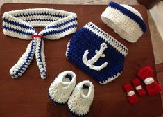 Free Crochet Baby Sailor Hat Pattern/etsy*com|listing|106906791|adorable Baby Boy Gift Set The Little - Google Search