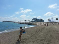 Playa de La Farola en Málaga, Andalucía