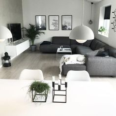 : 35 Best Living Room Decorations For Modern Home - Living room - For . - 35 Best Living Room Decorations For Modern Home - Living Room Grey, Living Room Modern, Home Living Room, Living Room Designs, Living Room Furniture, Living Room Decor, Small Living, Living Spaces, Living Haus