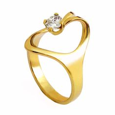 ISIS Unique Engagement Ring - Etsy seller Arosha Taglia specializes in unique jewelry pieces with contemporary designs such as the ISIS Unique Engagement Ring. The Italian jew. Unique Rings, Beautiful Rings, Unique Jewelry, Egyptian Jewelry, Italian Jewelry, Yellow Gold Rings, Gold Gold, Gold Jewelry, Jewellery