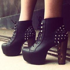 heavy metal. #gojane #studs #booties #spikes #fierce #fashion #style
