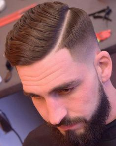 35 Sleekest Taper Haircuts for Men [Top Hairstyles Hard Part Haircut, Types Of Fade Haircut, Side Part Haircut, Comb Over Haircut, Low Fade Haircut, Side Part Hairstyles, Tapered Haircut, Cool Hairstyles For Men, Hairstyles Haircuts
