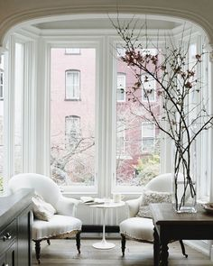 Window Seats  Create a moment by a window. Canalside Interiors carries a range of beautiful Armchairs to help you create the 'moment' you desire.  Our Arya Armchairs would work perfectly here in Jenna Lyons Park Slope Townhouse.  Visit our Alexandria showroom today or pop onto our website:  OPEN 7 DAYS   38 Burrows Rd Alexandria  www.canalside.com.au  Via popsugar.com #furniture #canalsideint #canalsideinteriors #Sydney #Alexandria @canalsideint