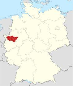 Deutschland-Karte mit hervorgehobenem Ruhrgebiet