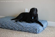 Easy Dog Bed: it's a crib mattress!!! With a DIY fleece cover. Tutorial on the blog. So easy.