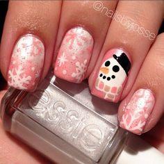 33 Beautiful Snowflake Nail Art Designs - Be Modish - Be Modish