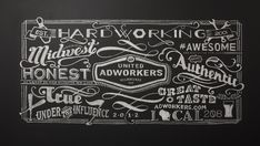 This is pretty awesome and makes me want to drink beer for some reason BVK - United Adworkers - Chalk Design - Membership Card Submission Chalkboard Typography, Chalk Lettering, Chalkboard Designs, Typography Letters, Graphic Design Typography, Chalkboard Ideas, Chalk Design, Typography Served, Type Treatments